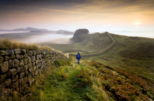 Walking Hadrian's Wall, Northumberland